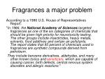 fragrances a major problem