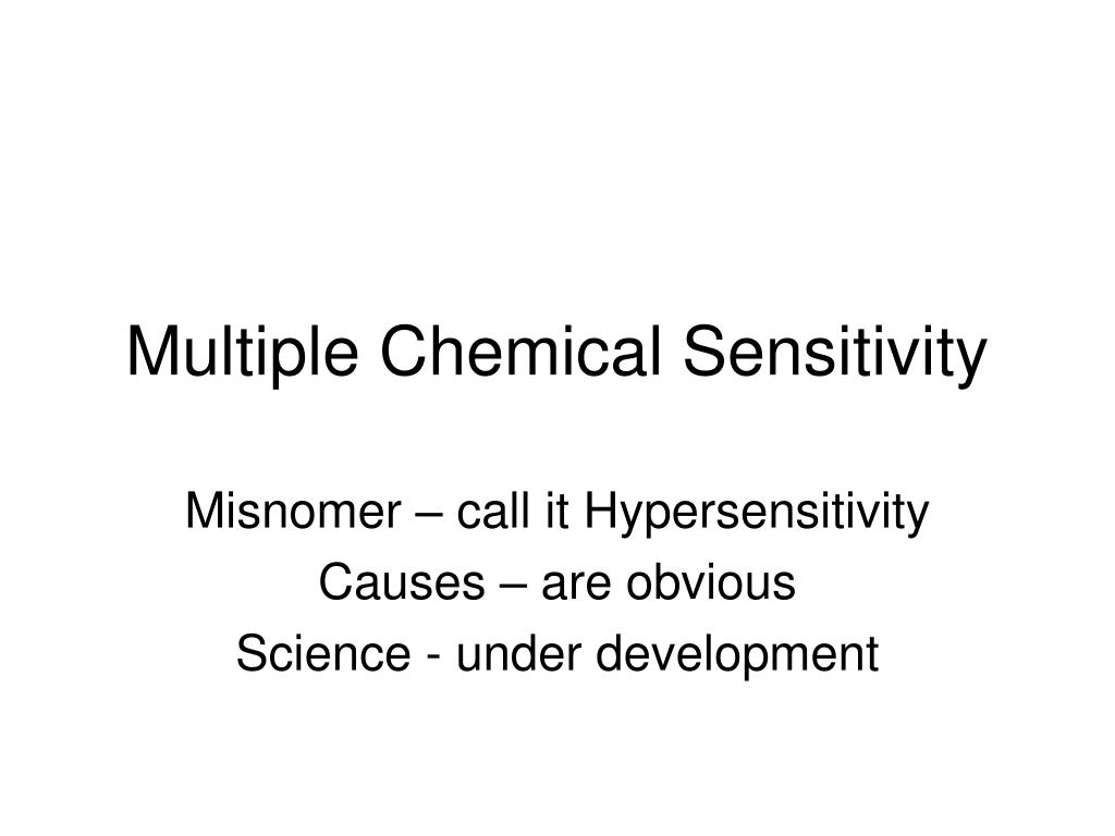 multiple chemical sensitivity l.