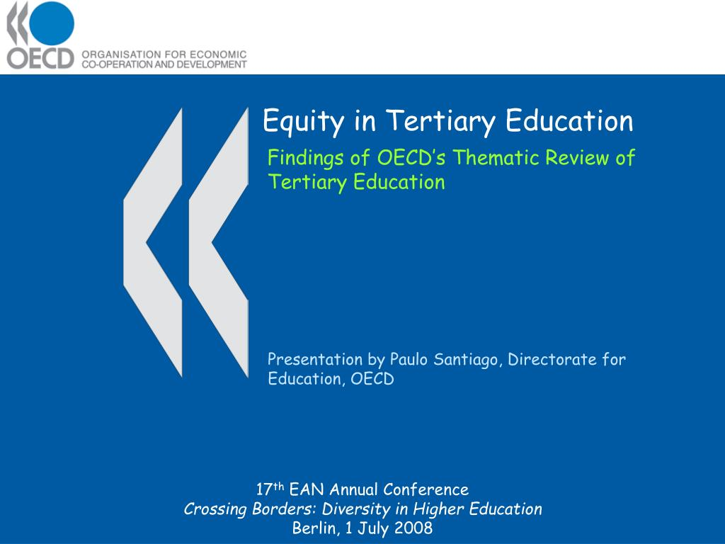 equity in tertiary education l.