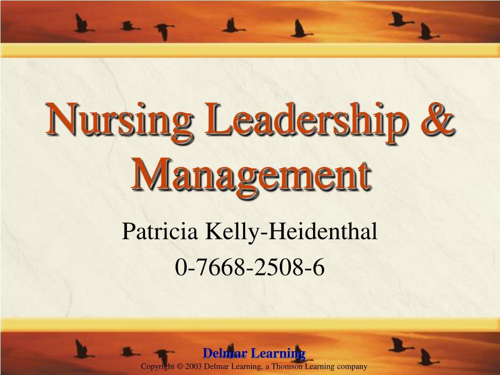 nursing leadership management l.