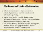 the power and limits of information