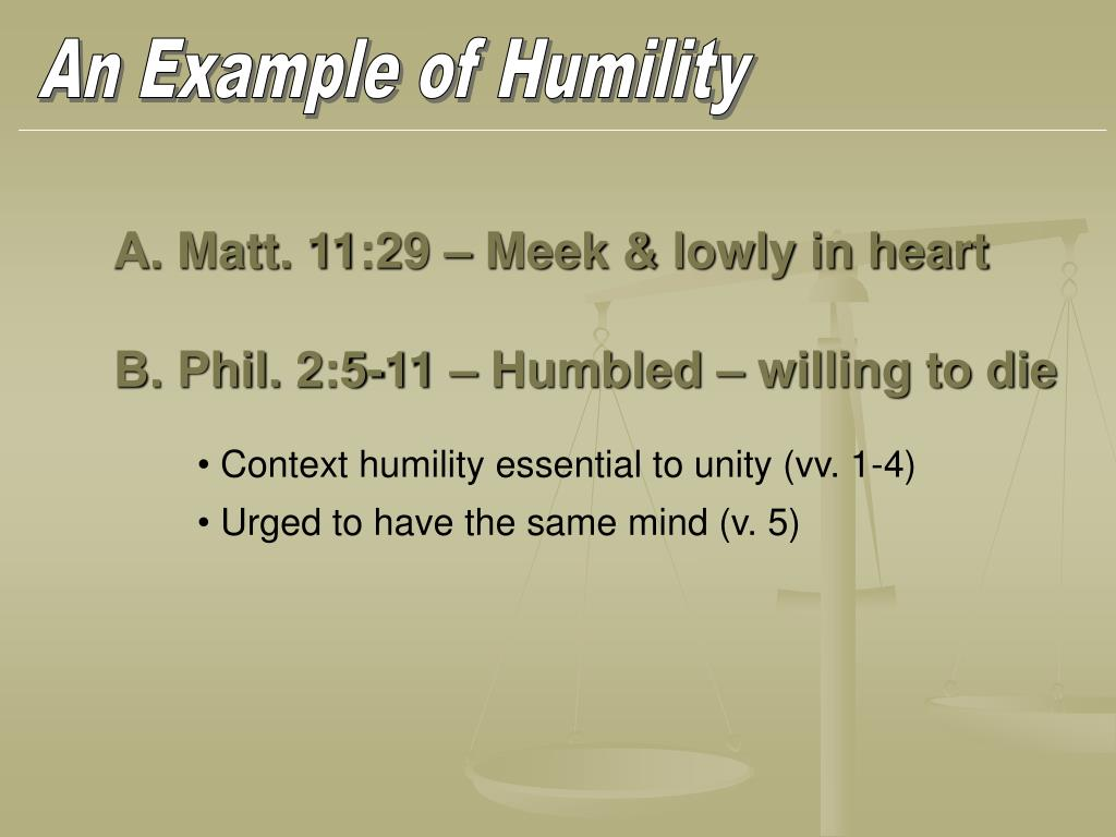 An Example of Humility