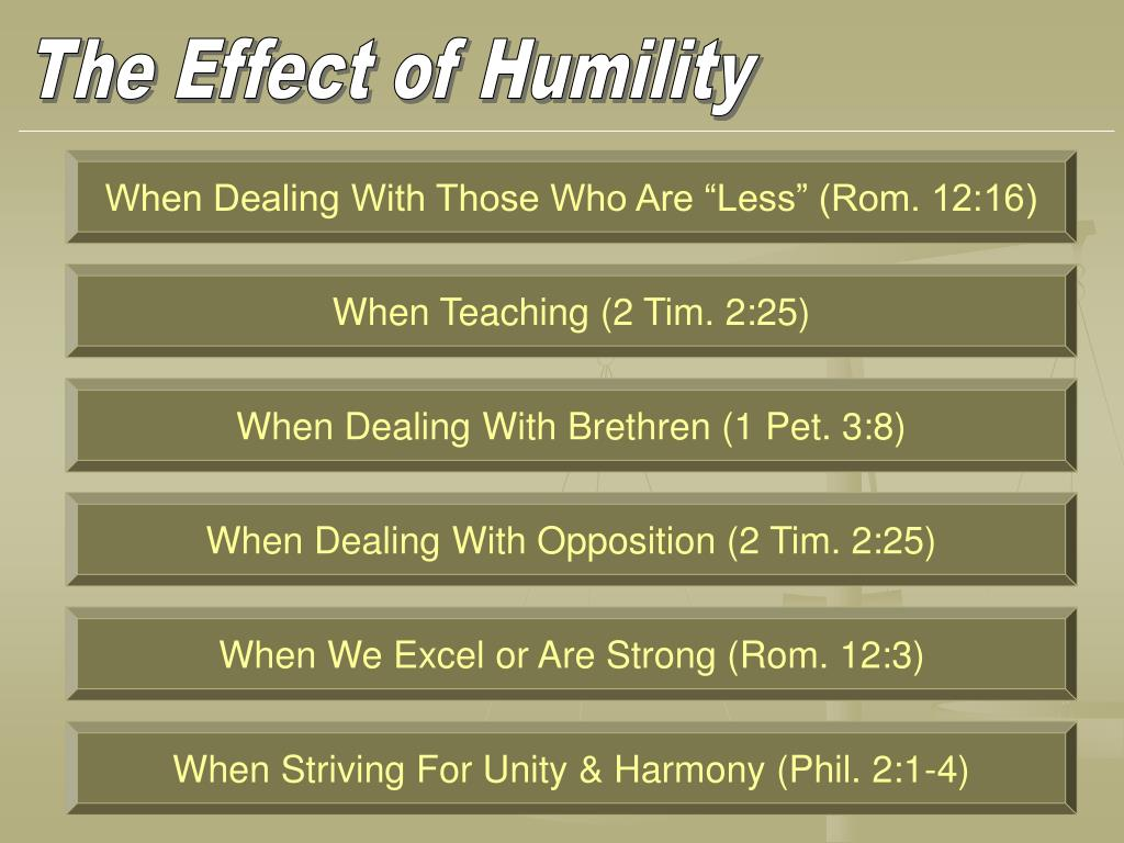 The Effect of Humility
