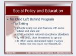 social policy and education18
