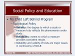 social policy and education19