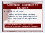 sociological perspectives on education11