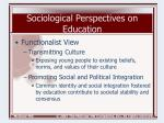 sociological perspectives on education4