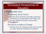 sociological perspectives on education5