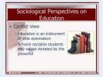 sociological perspectives on education6