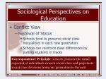 sociological perspectives on education8