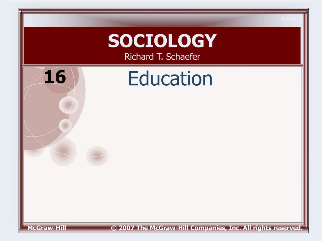 sociology richard t schaefer l.
