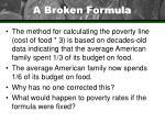 a broken formula