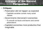 critiques of the marxist perspective