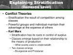 explaining stratification domestic level36