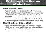 explaining stratification global level17