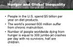 hunger and global inequality