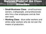 marxian model of the class structure23