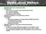 myths about welfare