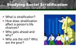 studying social stratification
