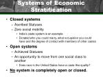 systems of economic stratification