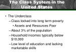the class system in the united states47