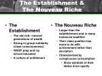 the establishment the nouveau riche
