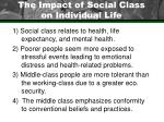 the impact of social class on individual life