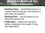 weberian model of the class structure25