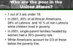 who are the poor in the united states