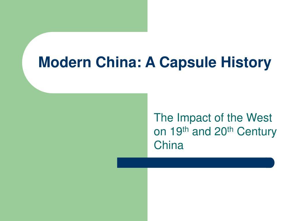 modern china a capsule history l.