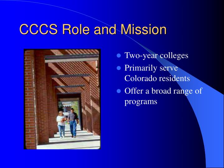 Cccs role and mission