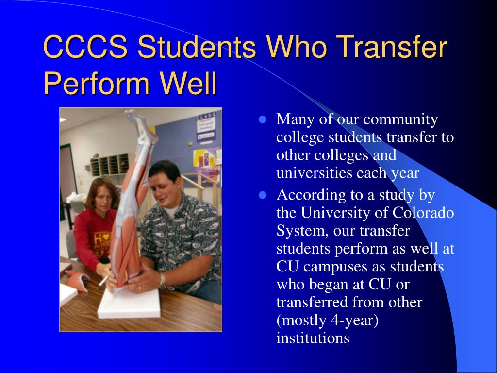 CCCS Students Who Transfer Perform Well