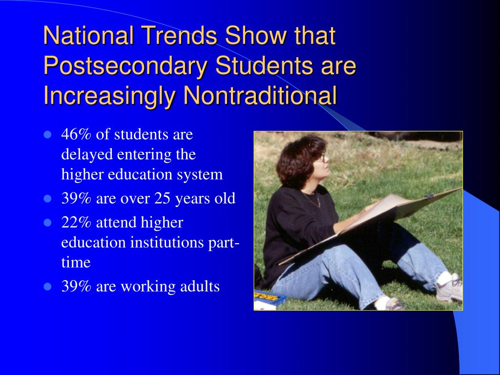 National Trends Show that Postsecondary Students are Increasingly Nontraditional