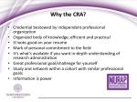 why the cra