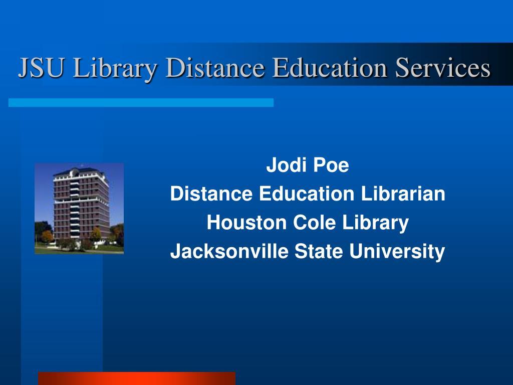 JSU Library Distance Education Services