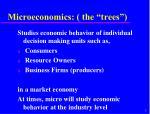 microeconomics the trees