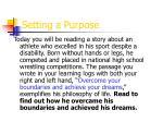 setting a purpose
