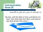communication verse 28