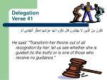 delegation verse 41