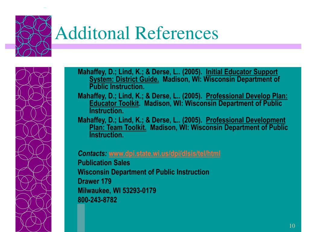 Additonal References