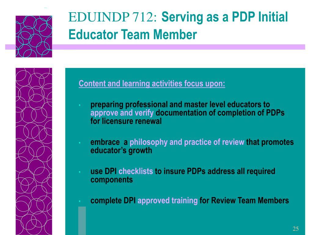 EDUINDP 712: