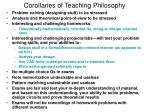 corollaries of teaching philosophy