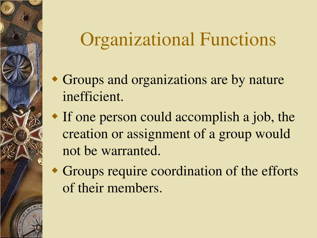 Organizational Functions
