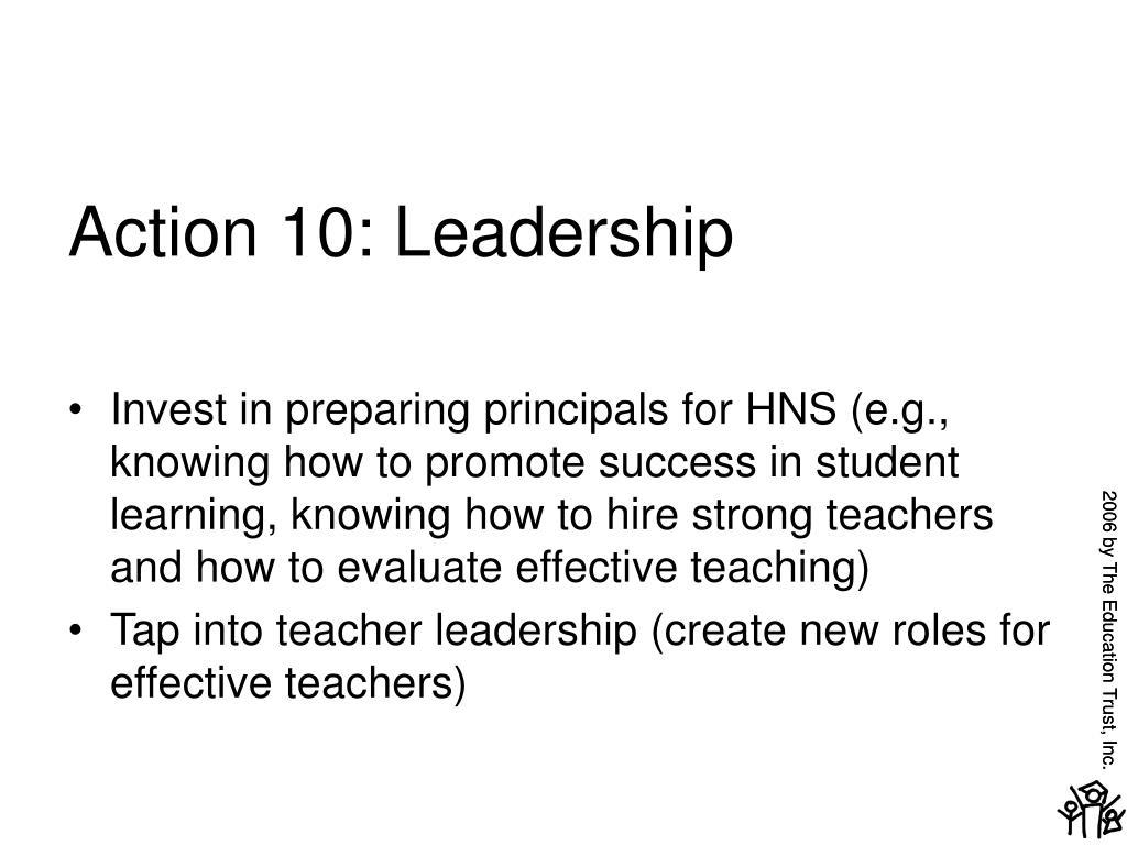 Action 10: Leadership