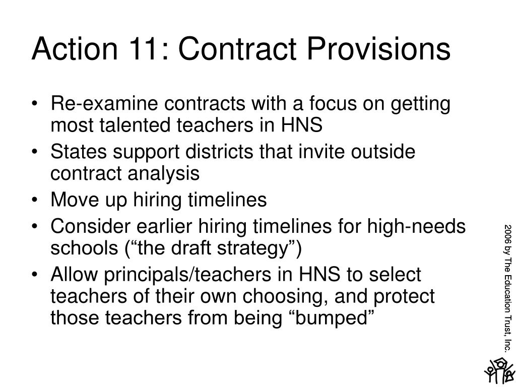 Action 11: Contract Provisions