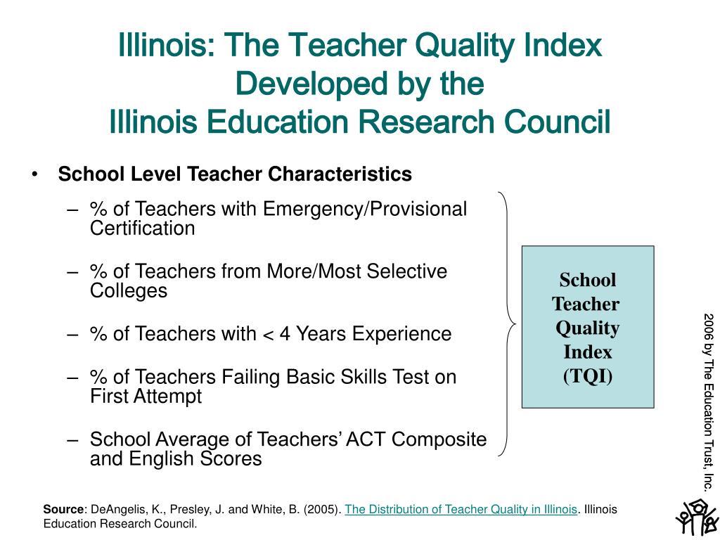 Illinois: The Teacher Quality Index