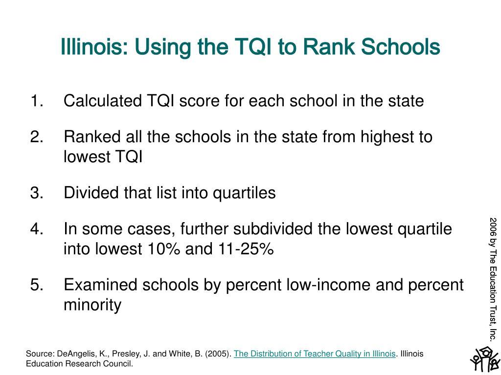Illinois: Using the TQI to Rank Schools