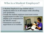 who is a student employee