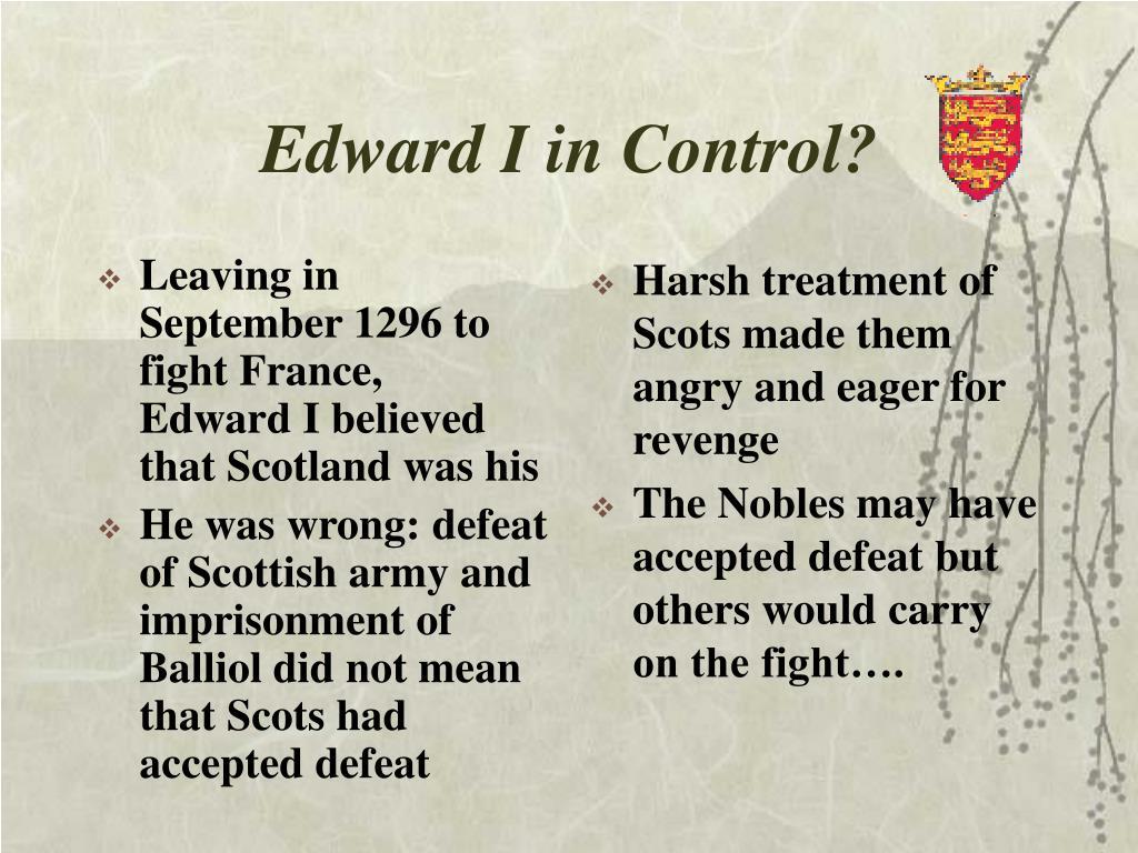 edward i in control l.