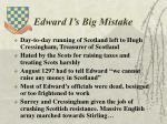 edward i s big mistake